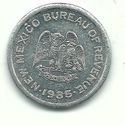 Very Nice High Grade 1935 New Mexico One 1 Mill Tax Token-Jan089