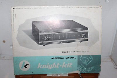 Vintage 1960 Knight Kit Assembly Manual Dleuxe Hi-Fi FM Tuner 83 YX 732 Radio