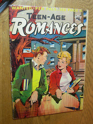 Teen-Age Romances #42 G- Matt Baker lets study together