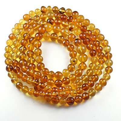 29.59g 100% Natural Mexican Golden Amber Bead Bracelet Necklace CSFb516
