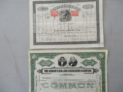 1901-39 (4) GRAPHICS Terryville,,Conn.,Maine,Pa.,STAMPS/Stock Certificate lot!