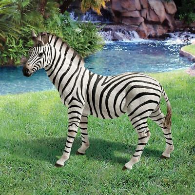 African Lifelike Striped Zebra Sculpture Exotic Wildlife Garden Statue
