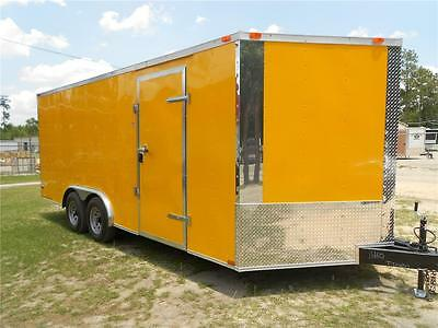 New 8.5 X 18 8.5X18 Enclosed Cargo Car Hauler Trailer - V-Nose * * Must See * *