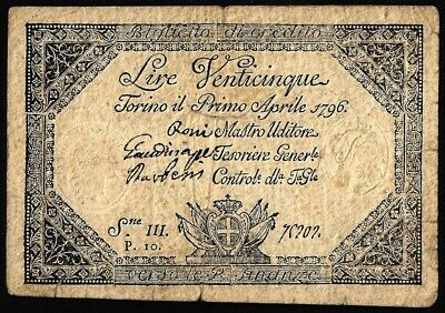 25 Lire From Italy 1796 MM11