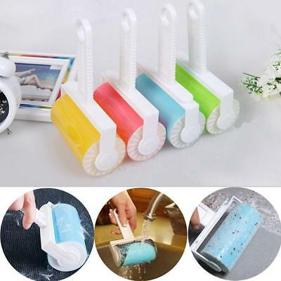 Washable Sticky Dust Cleaner Lint Roller Pet Hair Remover Brush Clothes Cloth LG