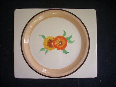Biarritz Plate Hand Painted In Clarice Cliff Pattern Larger Size