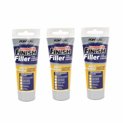 3 x RONSEAL 100G SMOOTH FINISH MULTI PURPOSE INTERIOR WALL FILLER