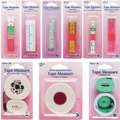 Hemline Selection Tape Measure Tailors Dressmaking Quilting