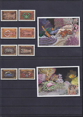 056103 Fische Fish ... Grenada G 1319-26 + Block 200/01 ** MNH Year 1990