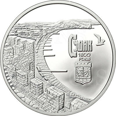 Ukraine 2012 10 UAH 1800 Years of the Town of Sudak Crimea 1oz Proof Silver Coin