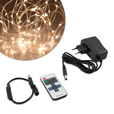 kwmobile LED String white with copper wire copper 10m