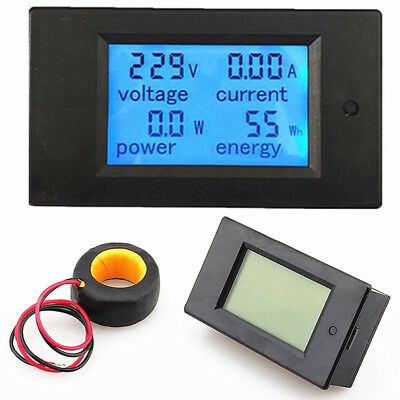 LCD AC 80-260V 0-100A Digital Voltage Volt Current Meter Panel Power Energy