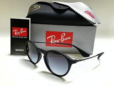 8dfad123e7 Authentic RAY-BAN RB4243 622 8G Black Rubber Grey Gradient Lens 49mm  Sunglasses