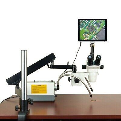 OMAX 2-270X 5MP Touchpad Simul-focal Zoom Microscope+Articulating Arm+150W Light
