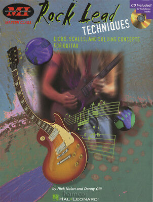 Rock Lead Techniques Licks Scales Solos Guitar TAB Music Book/CD