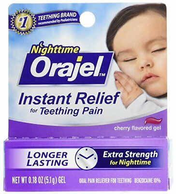 Orajel Nighttime Formula .18 oz Teething Pain Relief Exp 03/2018
