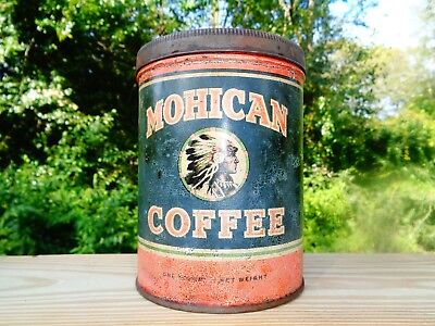 Vintage MOHICAN COFFEE TIN ....RARE