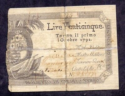 25 Lire From Italy 1792