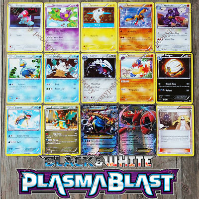 *NEW* 8 + 1 POKEMON TCG BLACK & WHITE PLASMA BLAST Mega EX Cards c