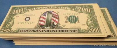 Wholesale Lot 100 Wtc Twin Towers - 9/11 2001 Money Dollar Bills Usa Nyc Ny Sept