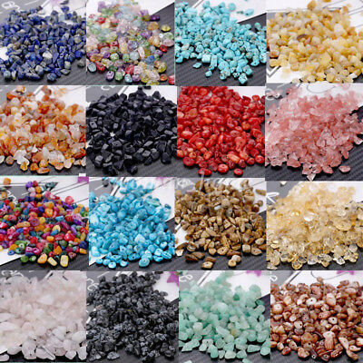15g Natural Freeform Gravel Gemstone Chip Loose Beads DIY Jewelry Finding 3-10mm