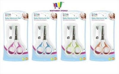 First Steps Pink Baby Nail Clippers Scissors Gift Set Newborn Toddler Manicure