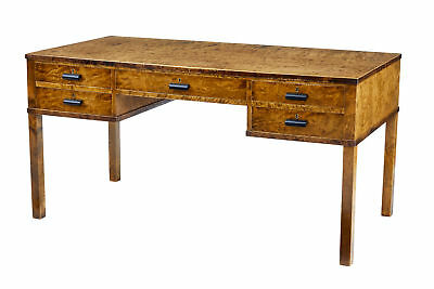 20Th Century Art Deco Burr Birch Desk