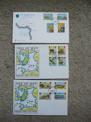 Isle Of Man First Day Covers Definitive,s From 1973-1975