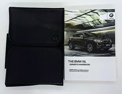 Genuine Bmw X6 (F16) Handbook  Owners Manual 2014-2018 Latest Pack
