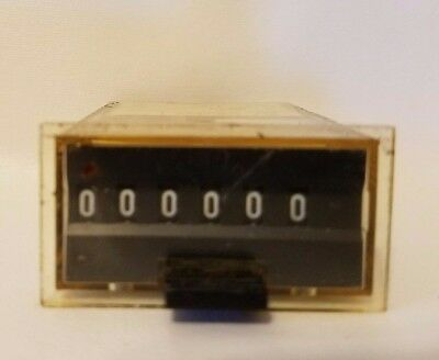 Sodeco RG162E 25i/s 24V 180 Ohm Timing Relay Timer Counter 6 Digit