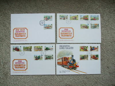 Isle Of Man First Day Covers Definitive Railway From 1988-1992