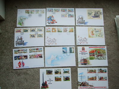 Isle Of Man First Day Covers x 11 From 1995