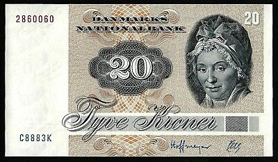 20 Kroner From Denmark 1972 MM11 Unc