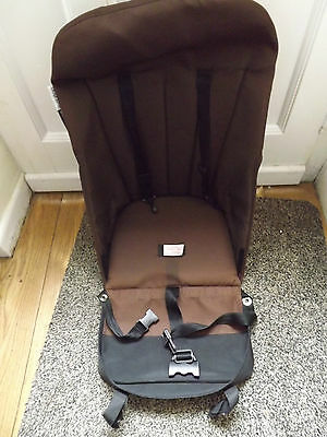 Bugaboo Cameleon  Seat Base Unit Dark Brown Canvas Fabric Fit gen 1 or 2