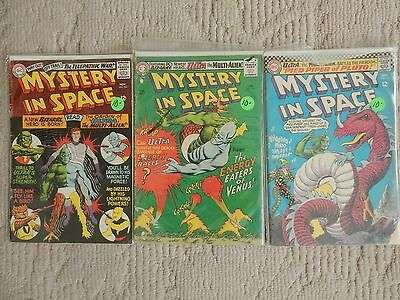 Mystery In Space 3 Issue Lot #103,105,110 Ist Ultra The Multi Alien Good To Vg