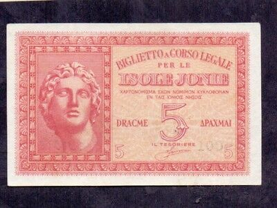 5 Drachme From Greece Italy isole Jonie Unc
