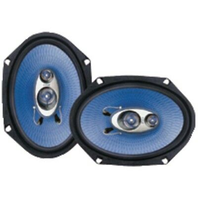 Pair New Pyle PL683BL 6'' x 8'' 360 Watt Three-Way Speakers Car Audio
