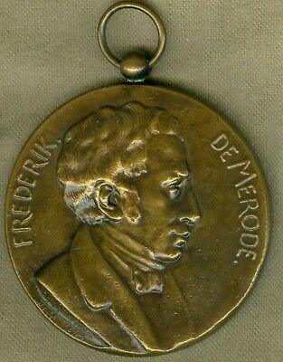 1905 Belgium Medal Issued to Honor Frederik de Merode, by Strymans
