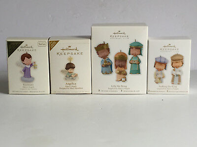 Lot of 4 MARY'S ANGELS Hallmark Keepsake Ornaments Angelica NIB w Price Tags
