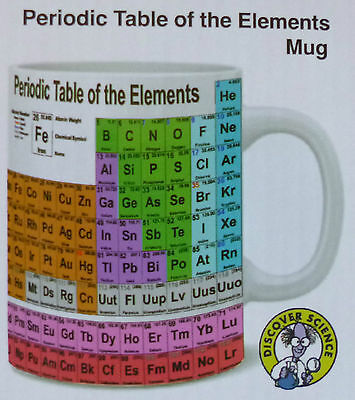DISCOVER SCIENCE Periodic Table of Elements COFFEE MUG Fully updated MENDELEEV