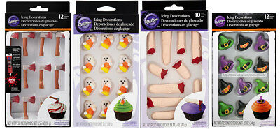 WILTON* Boxed Candy ICING DECORATIONS For Cakes+Cupcakes *YOU CHOOSE* Halloween