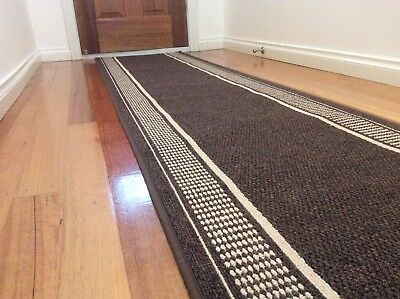 Hallway Runner Hall Runner Rug 4 Metres Long Modern Brown FREE DELIVERY