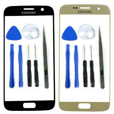 New Front Outer Glass Screen Lens Cover For Samsung GALAXY S7 G930 Replacement