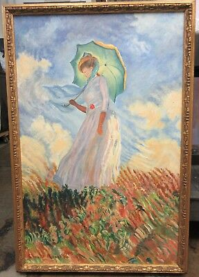 *Local Pickup Only* Official Louvre Copy by Langlet of Monet  Painting 1965
