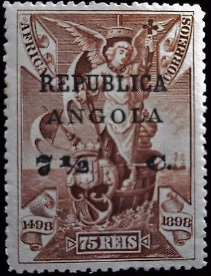 Portuguese Angola,1913, ovrpt/surcharg 75r stamp of Port Africa (SC 197).MNH