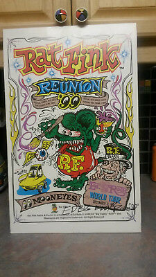 Rat Fink Reunion 1999 From Ed Big Daddy Roth And Mooneyes    Signed