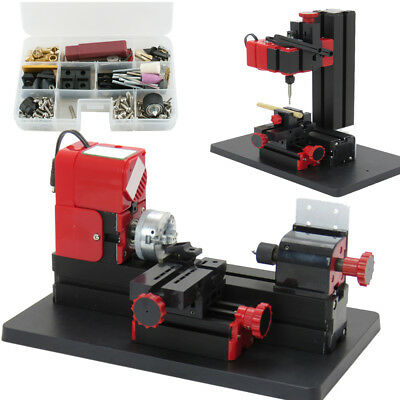 USA 6in1 Lathe Wood DIY Machine Tool Kit Jigsaw Milling Lathe Drilling 20000rpm