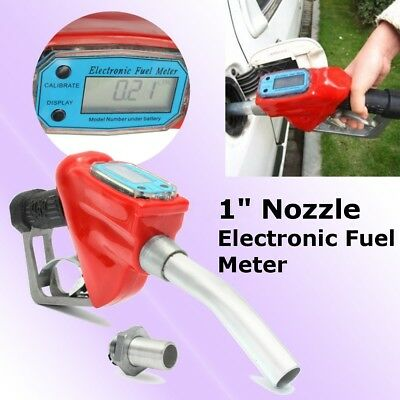Fuel Gasoline Diesel Petrol Nozzle Digital Flow Meter  Delivery Gun Dispenser