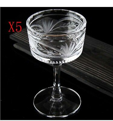 New 5X Capacity 130ML Height 134MM Lead Free Cocktail Wine Glass/Glassware %