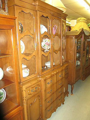 52895 French Country China Cabinet Breakfront w/ Desk